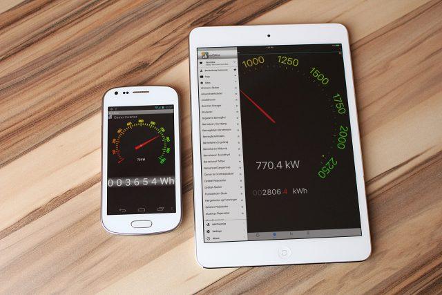eviShine-app på telefon og tablet